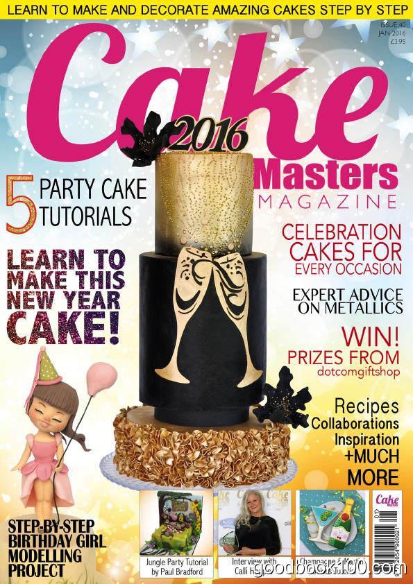蛋糕杂志Cake Masters_2016年合集高清PDF杂志电子版百度盘下载 共12本
