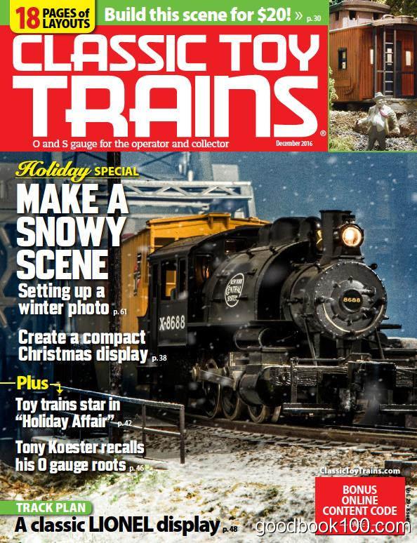玩具火车杂志Classic Toy Trains_2016年合集高清PDF杂志电子版百度盘下载 共9本