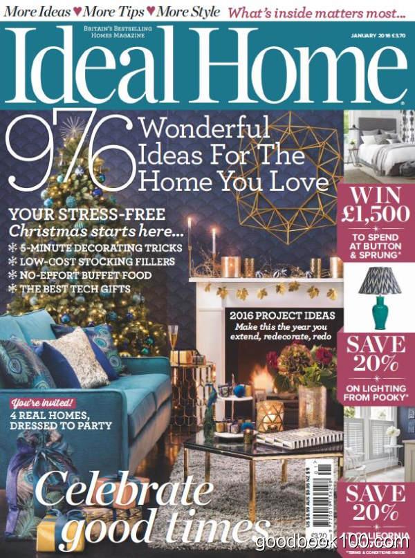Ideal Home_2016年合集高清PDF杂志电子版百度盘下载 共13本