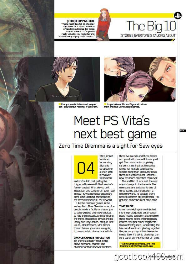PS游戏机杂志PlayStation Official_2016年合集高清PDF杂志电子版百度盘下载 共12本