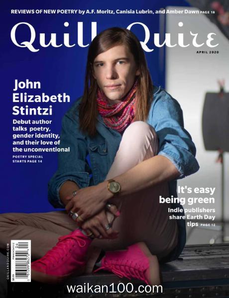 Quill&Quire 4月刊 2020年高清PDF电子杂志外刊期刊下载英文原版