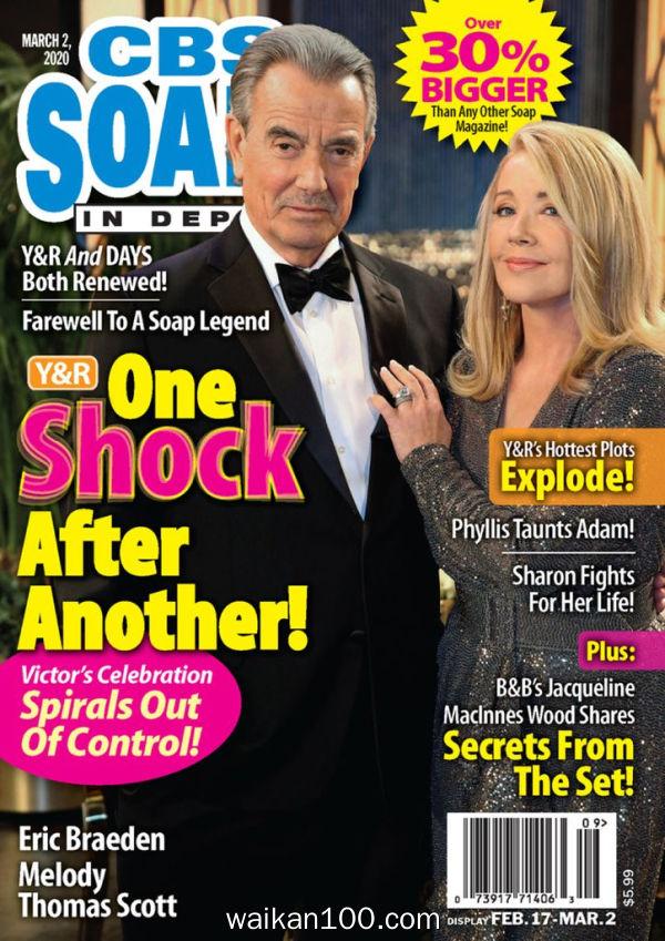 CBS Soaps In Depth 3月刊 02 2020年高清PDF电子杂志外刊期刊下载英文原版