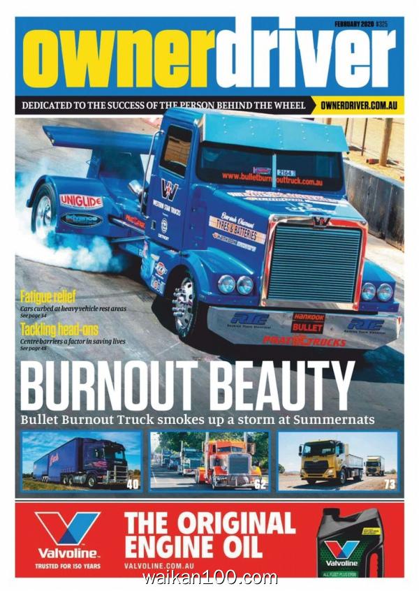 Owner Driver 2月刊 2020年高清PDF电子杂志外刊期刊下载英文原版