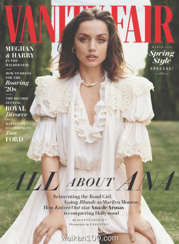 [英国版]Vanity Fair 3月刊 2020年高清PDF电子杂志外刊期刊下载英文原版