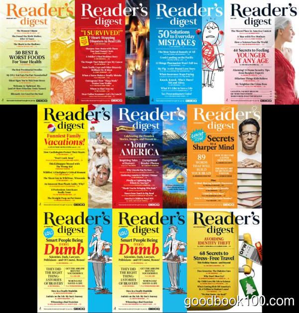 美国读者文摘_Readers Digest_2017年合集高清PDF杂志电子版百度盘下载 共10本