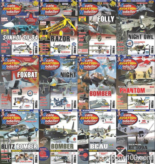 飞机模型杂志_Scale Aviation Modeller International_2018年合集高清PDF杂志电子版百度盘下载 共12本 447MB