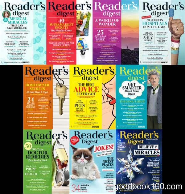 美国读者文摘杂志_Readers Digest USA_2018年合集高清PDF杂志电子版百度盘下载 共10本