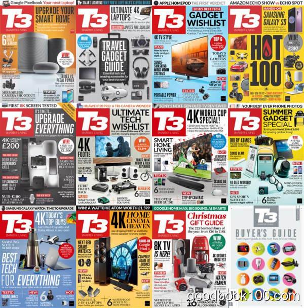 数码杂志英国版_T3 UK_2018年合集高清PDF杂志电子版百度盘下载 共13本