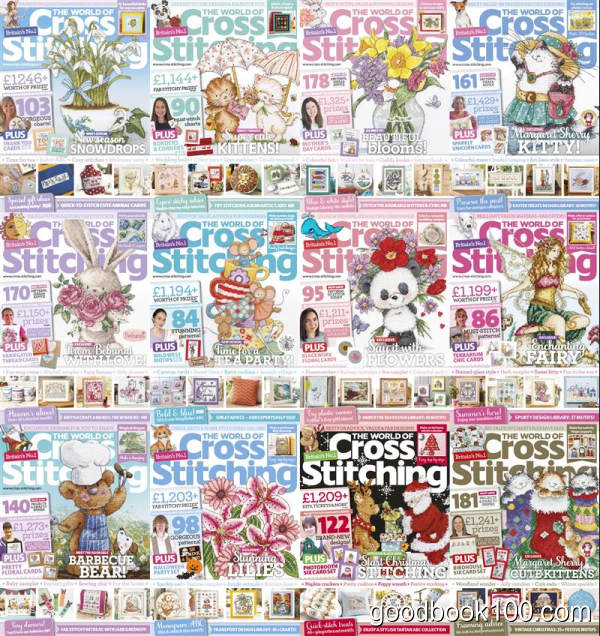The World of Cross Stitching_2018年合集高清PDF杂志电子版百度盘下载 共12本