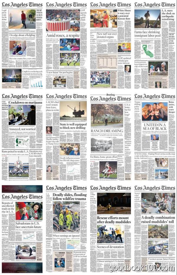 洛杉矶时报_Los Angeles Times_2017年合集高清PDF杂志电子版百度盘下载 共358本 10.75G
