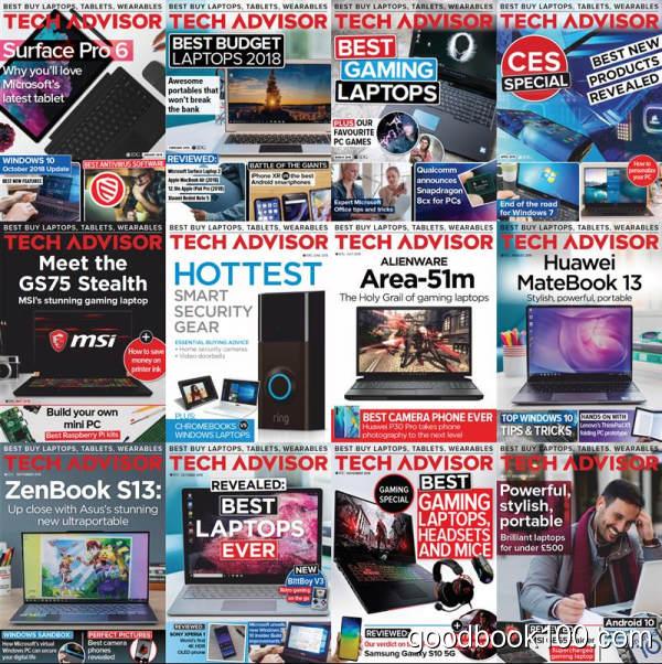 数码杂志_Tech Advisor_2019年合集高清PDF杂志电子版百度盘下载 共12本