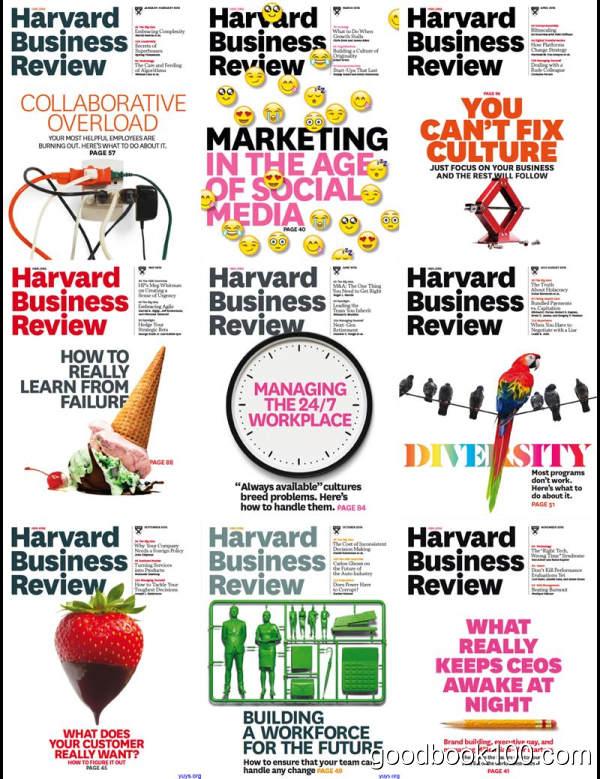 哈佛商业评论英文原版_Harvard Business Review_2015年合集高清PDF杂志电子版百度盘下载 共9本