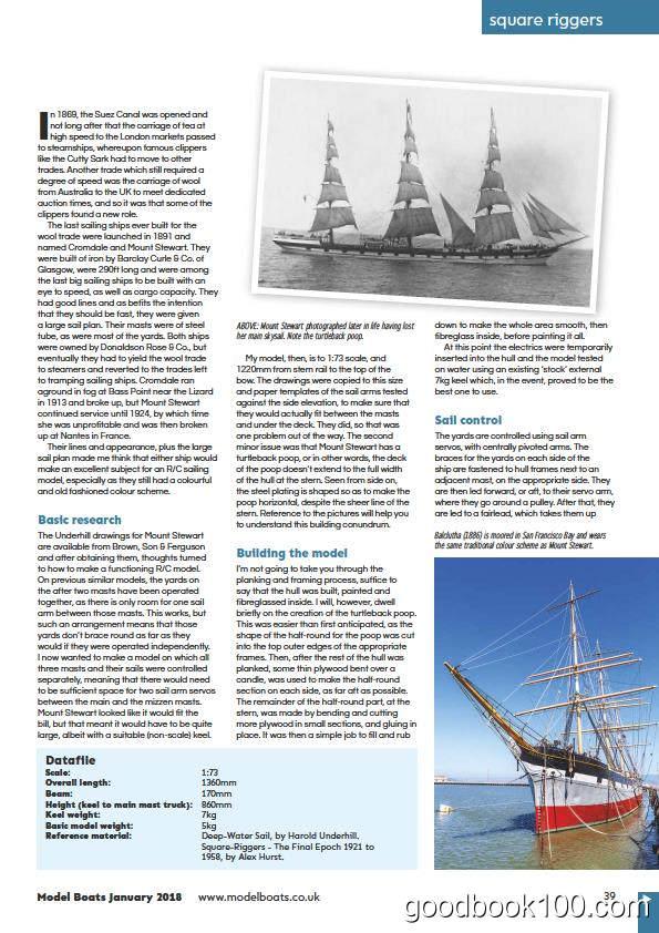 船模类杂志_ModelBoats_2018年合集高清PDF杂志电子版百度盘下载 共13本