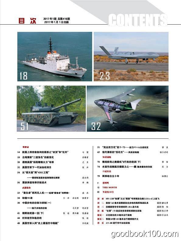 兵器知识_2017年合集高清PDF杂志电子版百度盘下载 共12本 443MB