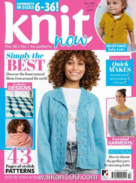Knit Now 总期数No.114 3月刊 2020年高清PDF电子杂志外刊期刊下载英文原版
