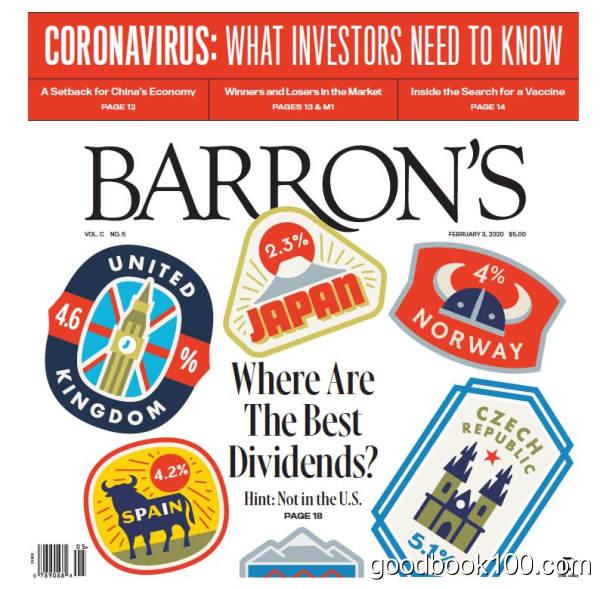 巴伦周刊_Barrons_2020年合集高清PDF杂志电子版百度盘下载 共48本