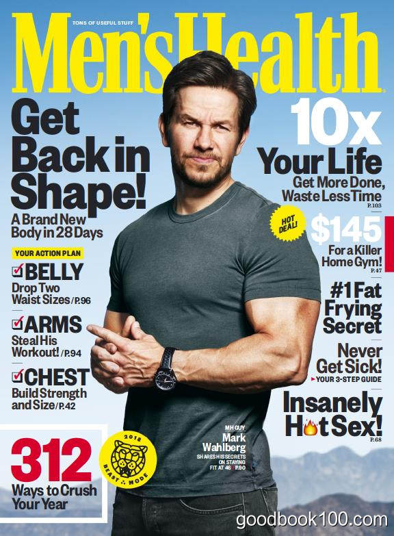 男性健康美国版_Mens Health USA_2017年合集高清PDF杂志电子版百度盘下载 共10本