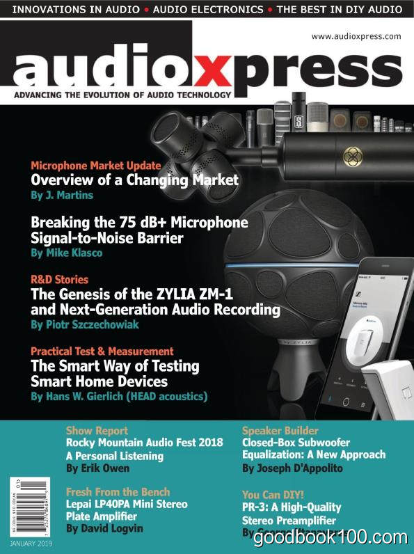 audioXpress_2019年合集高清PDF杂志电子版百度盘下载 共12本 491MB
