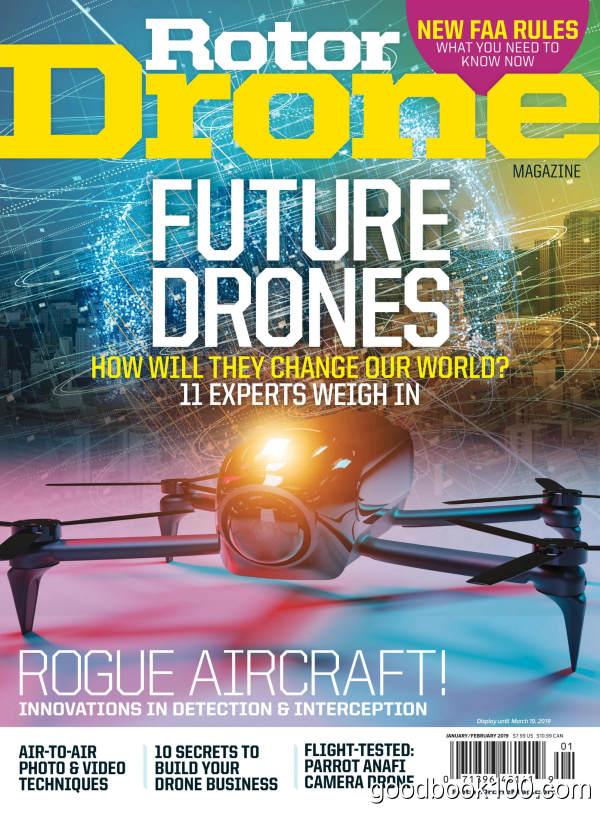 无人机杂志_Rotor Drone_2019年合集高清PDF杂志电子版百度盘下载 共6本 332MB