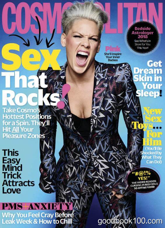 时尚杂志美国版_Cosmopolitan USA_2018年合集高清PDF杂志电子版百度盘下载 共11本