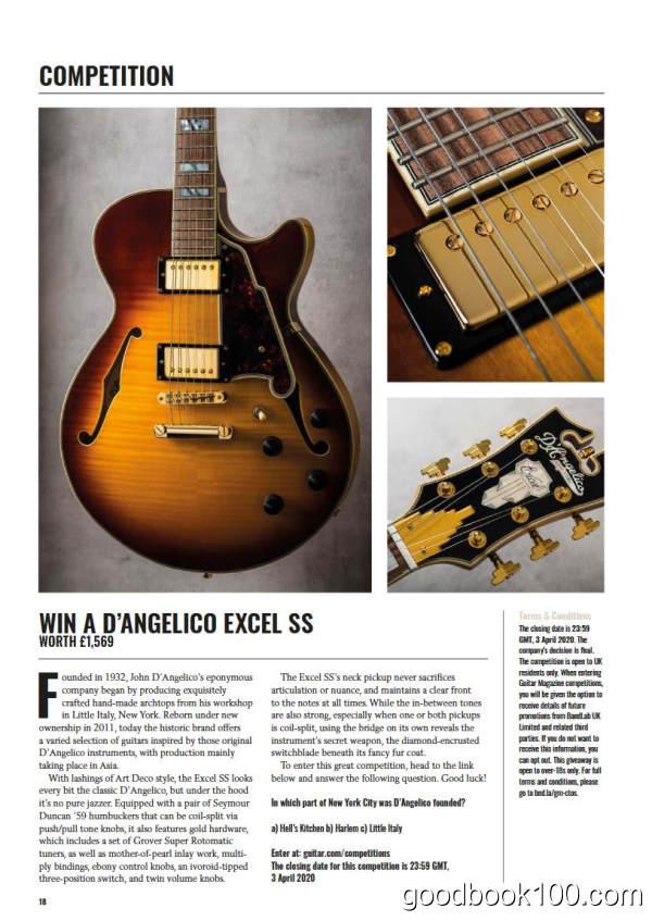 吉他杂志_The Guitar Magazine_2020年合集高清PDF杂志电子版百度盘下载 共12本 1.64G