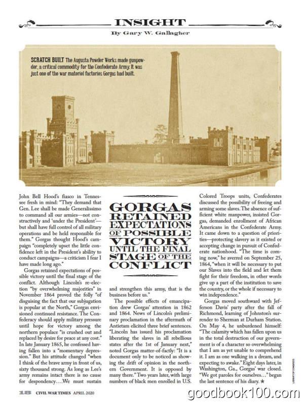 历史杂志_Civil War Times_2020年合集高清PDF杂志电子版百度盘下载 共6本 511MB
