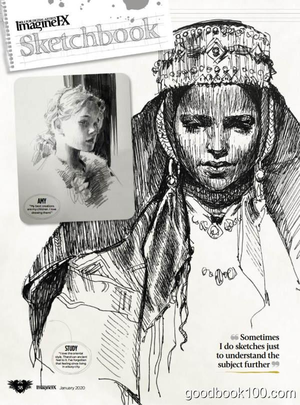 幻象插画视觉杂志_ImagineFX_2020年合集高清PDF杂志电子版百度盘下载 共12本