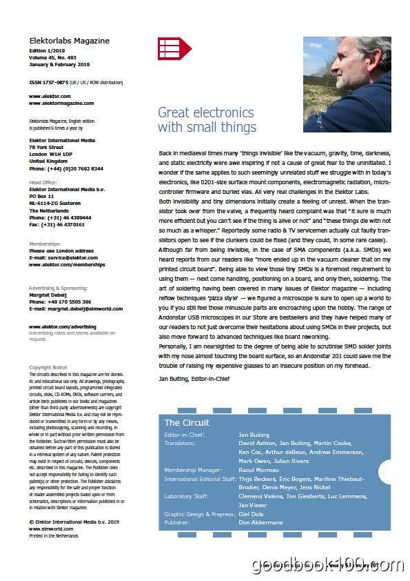 Elektorlabs_2019年合集高清PDF杂志电子版百度盘下载 共6本