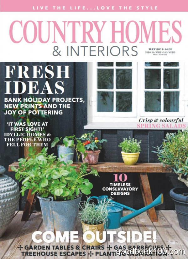 家居设计杂志_Country Homes and Interiors_2019年合集高清PDF杂志电子版百度盘下载 共12本 1.01G