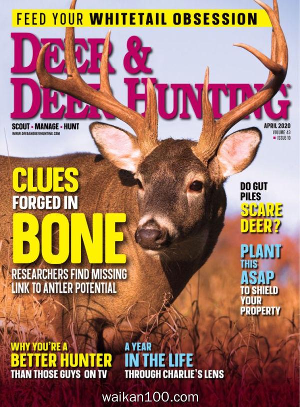 Deer&Deer Hunting 4月刊 2020年 [106MB]