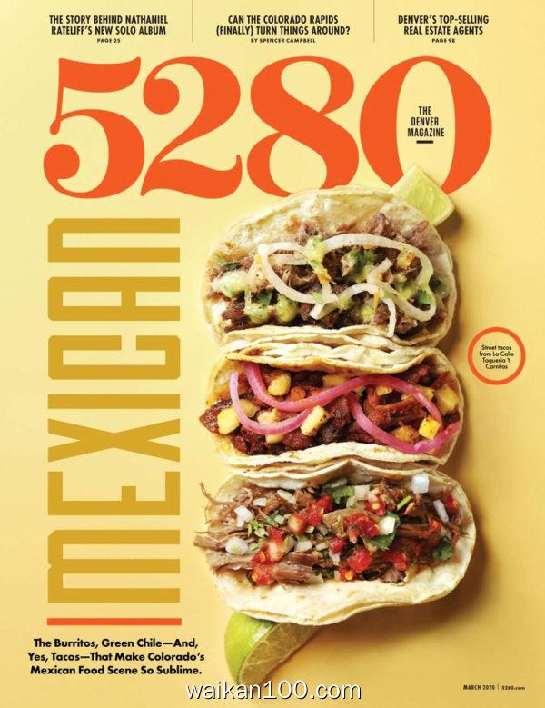 5280 Magazine 3月刊 2020年 [147MB]