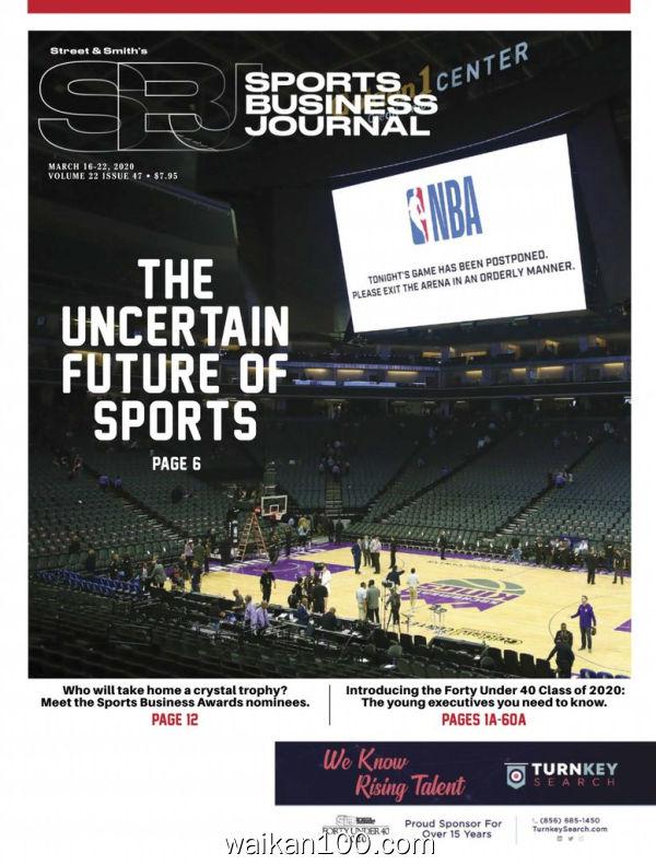 SportsBusiness Journal 16 3月刊 2020年 [47MB]