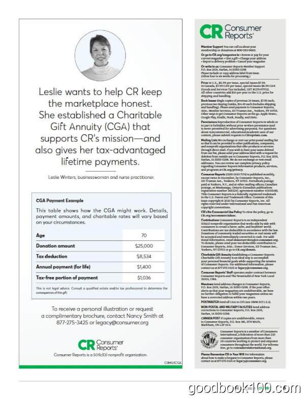 消费者报告杂志_Consumer Reports_2020年合集高清PDF杂志电子版百度盘下载 共12本
