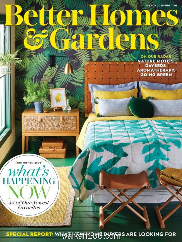 [美国版]Better Homes&Gardens 3月刊 2020年高清PDF电子杂志外刊期刊下载英文原版