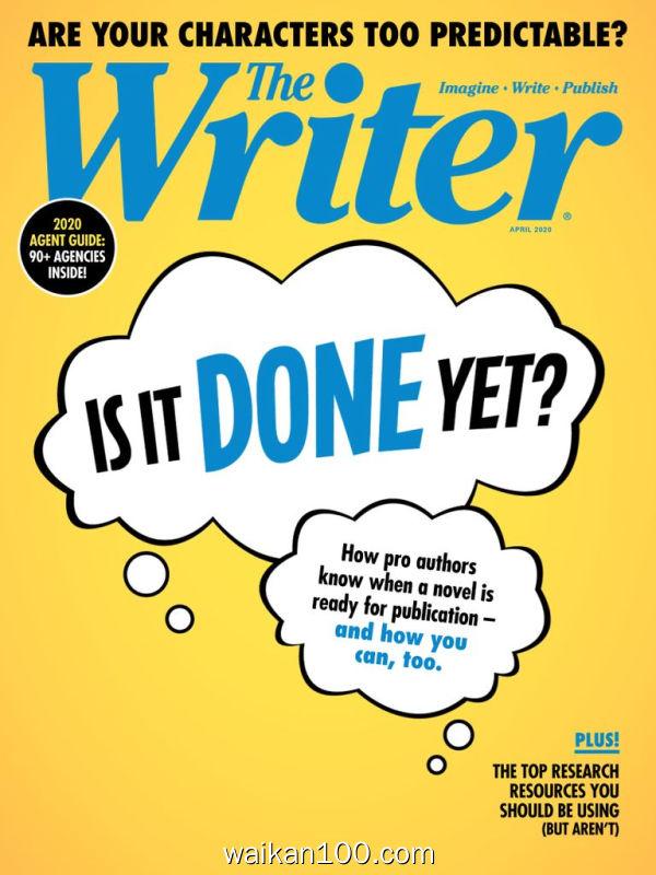 The Writer 4月刊 2020年 [20MB]