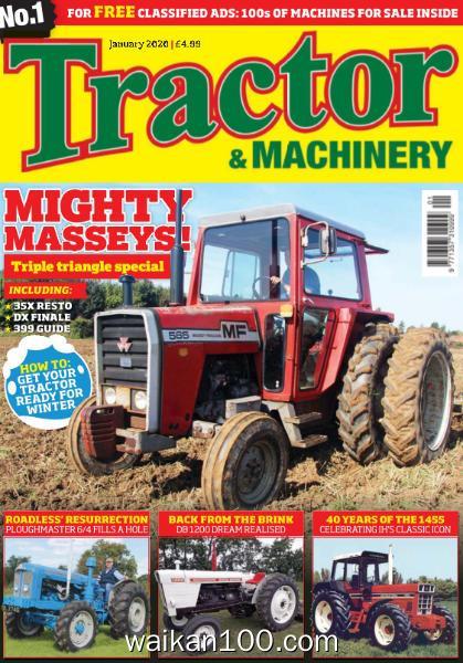 Tractor&Machinery 1月刊 2020年 [48MB]