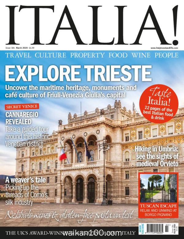 Italia!Magazine 3月刊 2020年 [118MB]