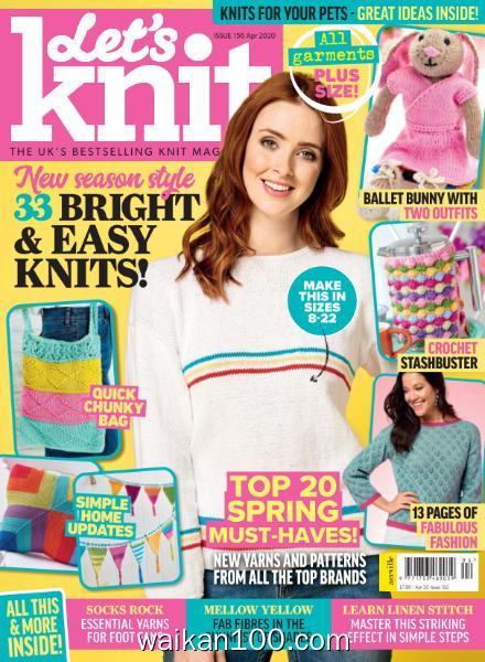 Let's Knit 总期数No.156 4月刊 2020年 [36MB]