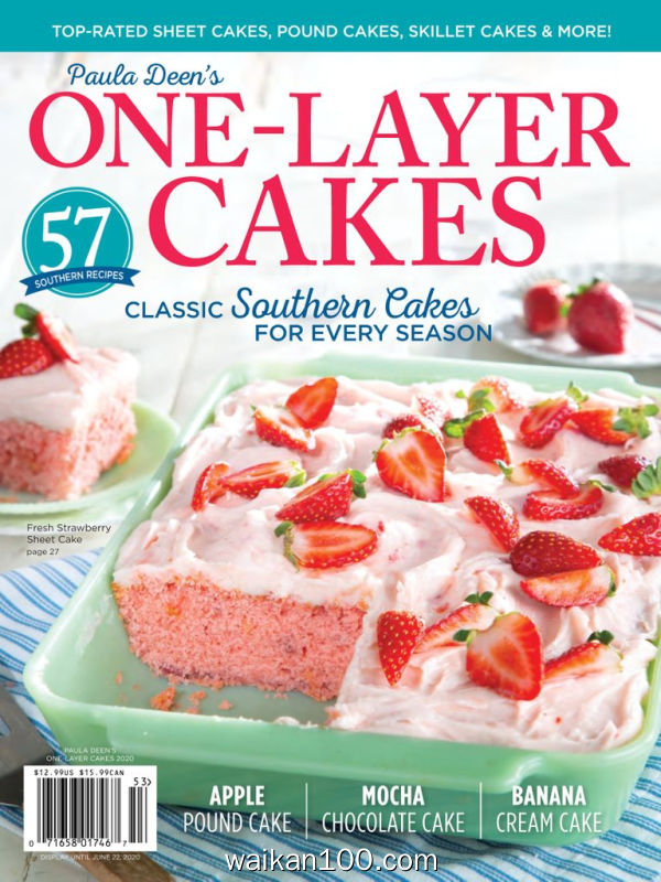 Cooking with Paula Deen 3月刊 2020年高清PDF电子杂志外刊期刊下载英文原版