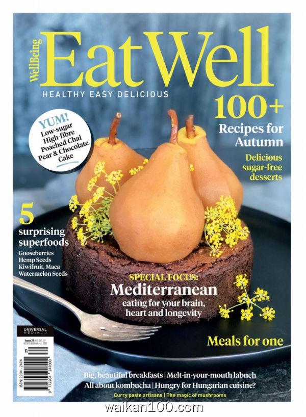 Eat Well 3月刊 2020年高清PDF电子杂志外刊期刊下载英文原版