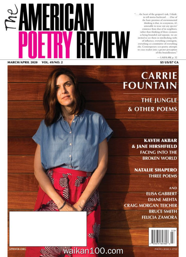 The American Poetry Review 3月4月合刊 2020年 [19MB]