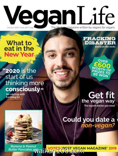 Vegan Life 总期数No.58 1月刊 2020年高清PDF电子杂志外刊期刊下载英文原版