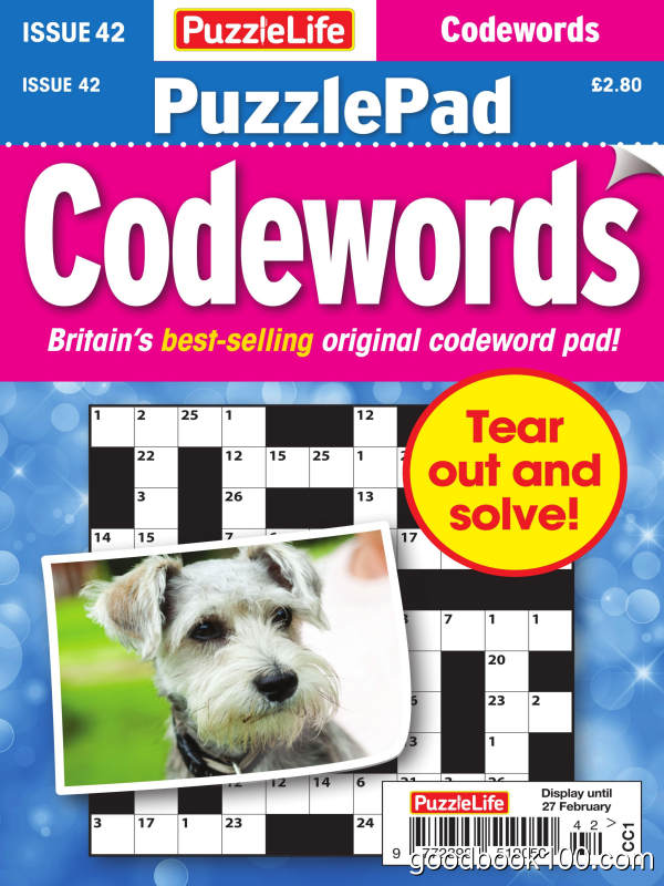 PuzzleLife_PuzzlePad_Codewords_-_Issue_42_-_January_2020英文原版高清PDF电子杂志下载