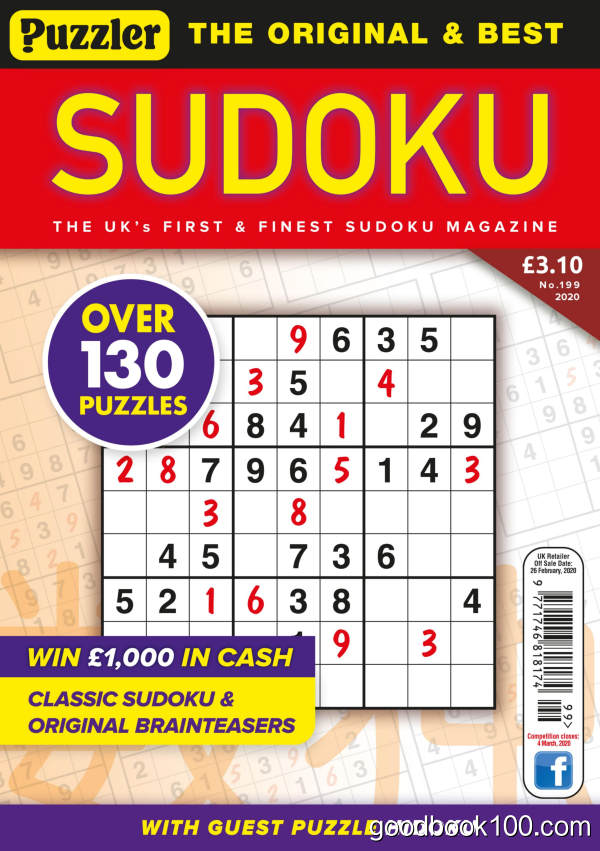 Puzzler_Sudoku_-_Issue_199_-_January_2020英文原版高清PDF电子杂志下载