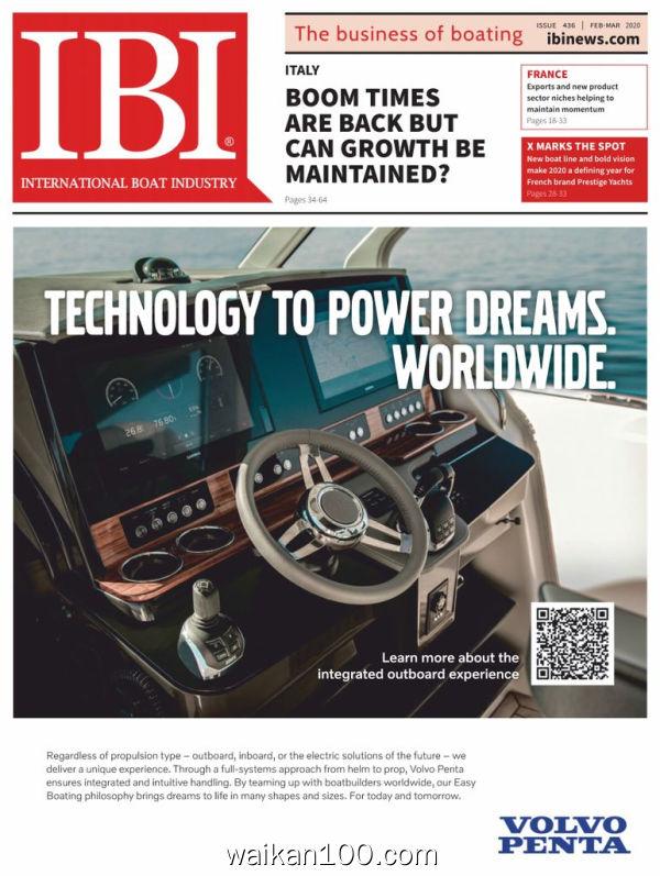 International Boat Industry 2月3月合刊 2020年高清PDF电子杂志外刊期刊下载英文原版