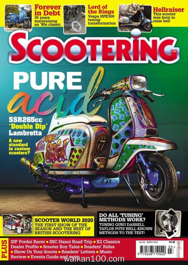 Scootering 3月刊 2020年高清PDF电子杂志外刊期刊下载英文原版