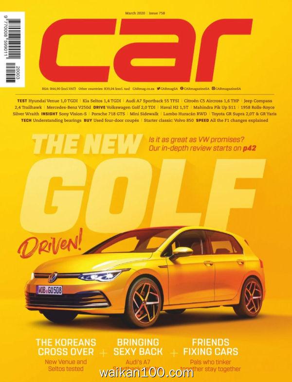 [南非版]Car 3月刊 2020年高清PDF电子杂志外刊期刊下载英文原版