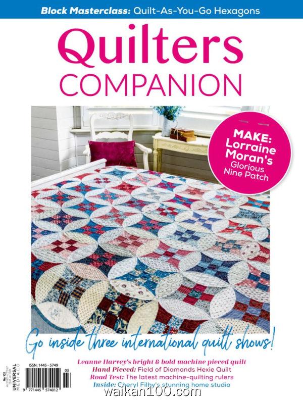 Quilters Companion 3月刊 2020年高清PDF电子杂志外刊期刊下载英文原版