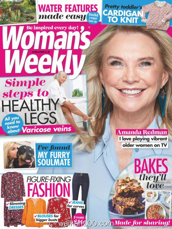 [英国版]Woman's Weekly 24 3月刊 2020年高清PDF电子杂志外刊期刊下载英文原版