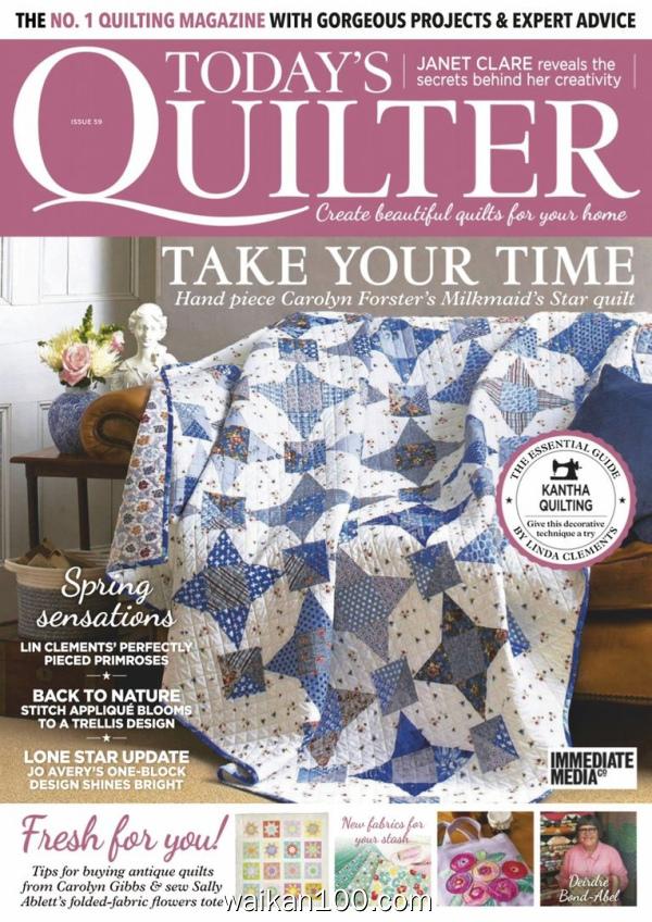 Today's Quilter 4月刊 2020年高清PDF电子杂志外刊期刊下载英文原版
